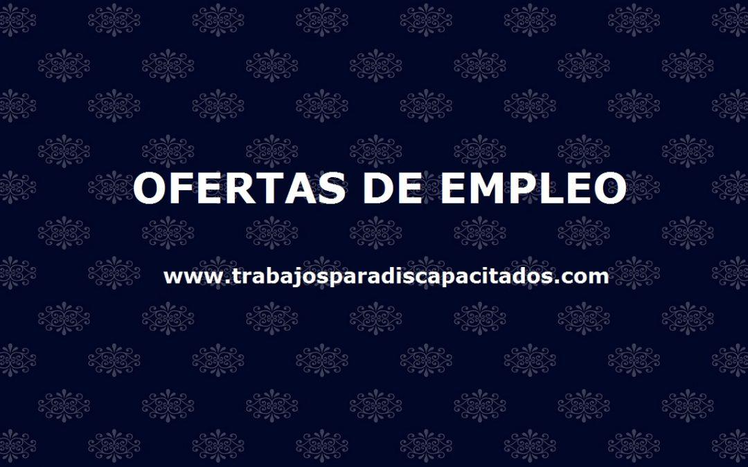 Trabajos para personas con discapacidad