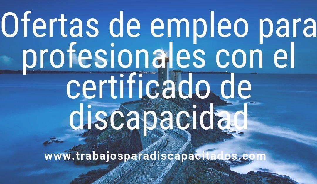 Ofertas de empleo para personas con el certificado de discapacidad