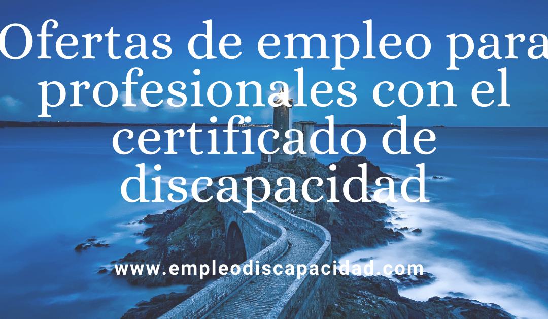 Ofertas de trabajo – Empleo con Discapacidad
