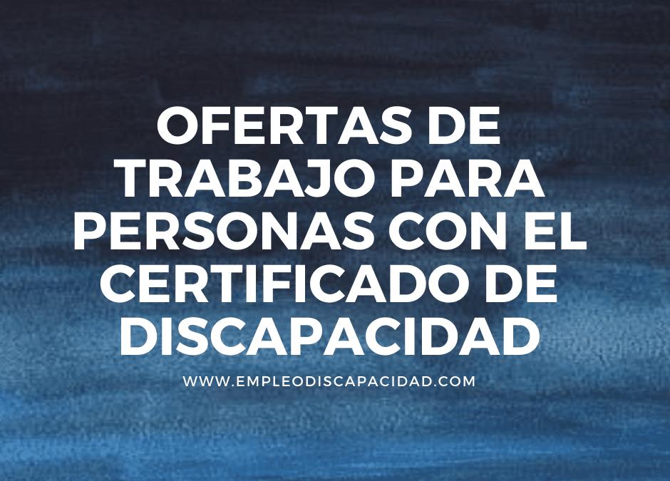 Ofertas de trabajo para personas con el certificado de discapacidad